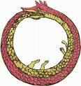 The Ouroboros is an ancient symbol depicting a snake or dragon swallowing its tail, constantly creating itself and forming a circle.