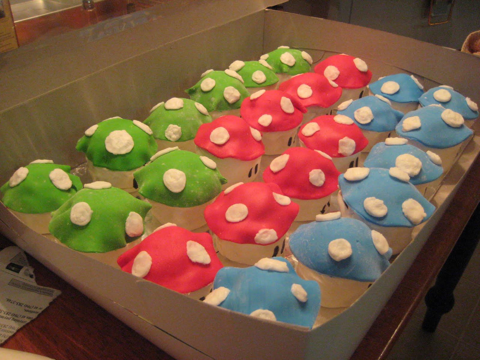 My Cake Boutique Super Mario Quot Toadstool Quot Cupcakes