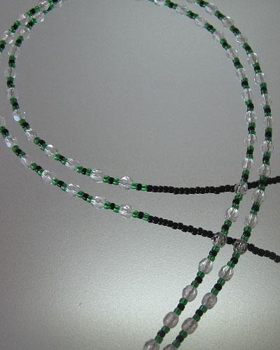 Green Beaded Lanyard