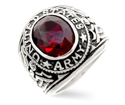 US Army Ruby Ring