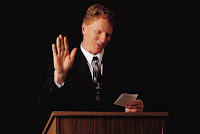 When using notes during a presentation, keep them on the lectern and leave your hands free to engage the audience.