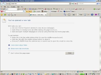 Internet Explorer 7 Blank Page