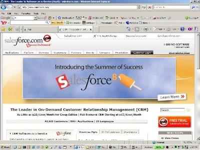 Internet Explorer 7 Salesforce.com
