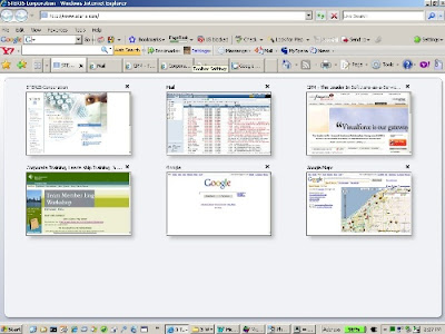Internet Explorer 7 quick tab thumbnail