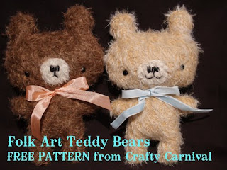 folk art teddy bears