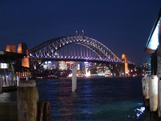 landmark photos sydney harbor bridge at night picture australia
