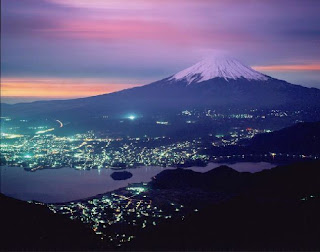 landmark photos mount fuji at night picture china