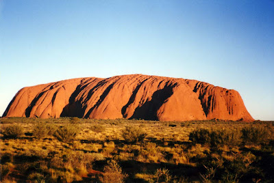 beautiful australian landmarks ayers rock during day deep orange color uluru northern territory