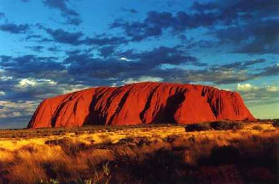 landmark photos ayers rock picture at sunset night deep color also known as uluru australia