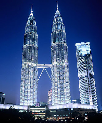 malaysia photos petronas towers view from below formerly worlds tallest building bright lights in kuala lumpur