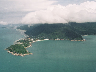 aerial view of koh pha ngan island in thailand home to the beach movie