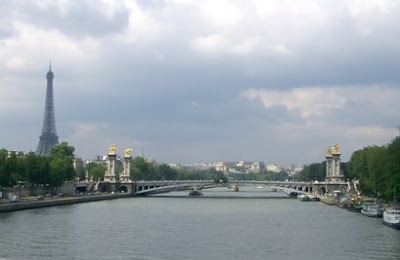 famous bridges gold embossed bornze statues le pont alexandre three in paris france named after tsar alexander third