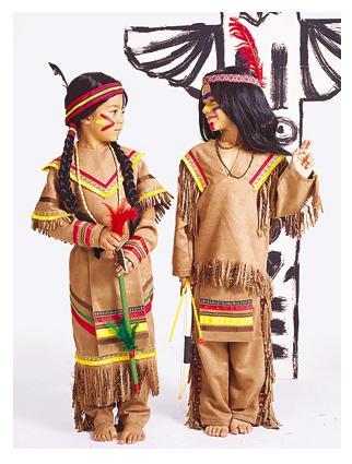 Disfraz de indio con patrones