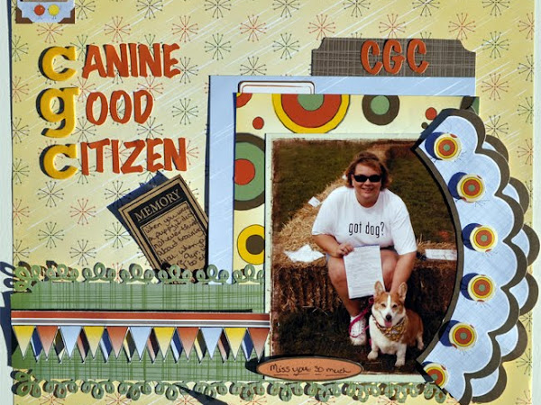 Canine Good Citizen and check out my header!!!