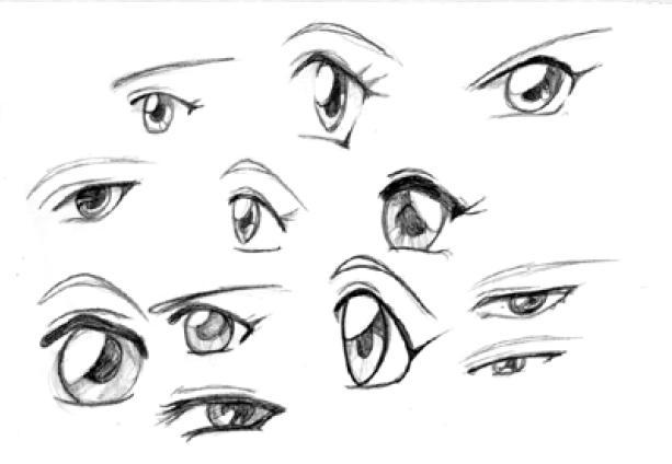 Como Desenhar Olho Manga