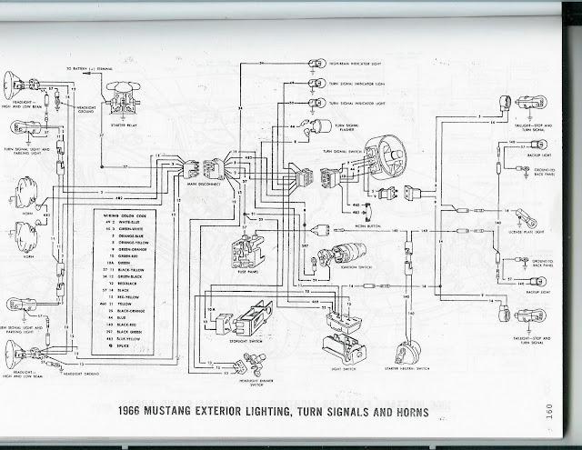 Mustang Dash Wiring Diagram 1966 Mustang Wiring Diagram 66 Mustang
