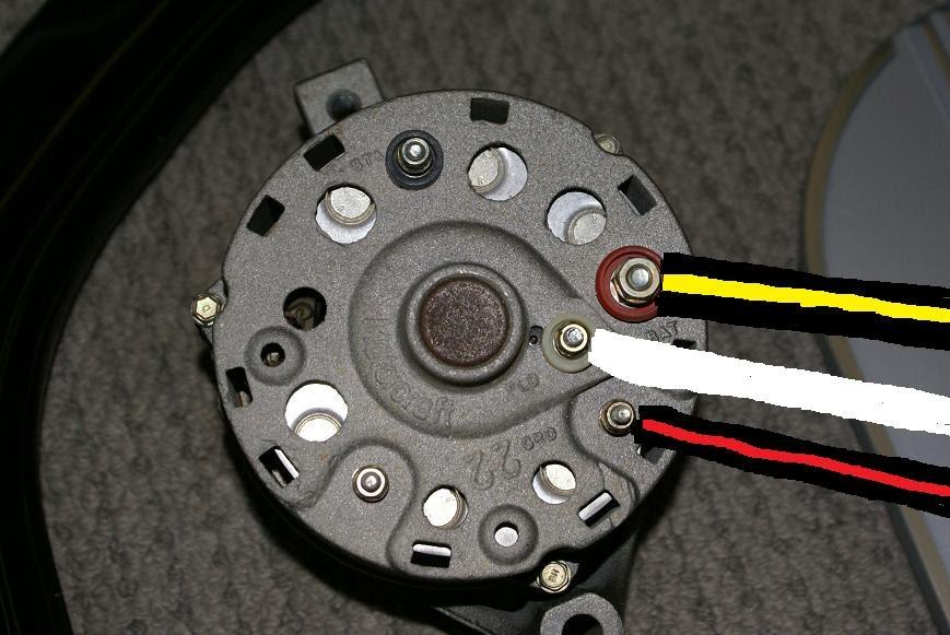 87 mustang alternator wiring diagram