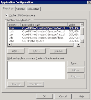 IIS 6 application configuration