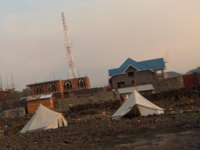 Tende e lava a Goma