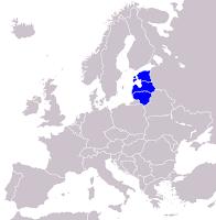 Mappa delle Repubbliche Baltiche
