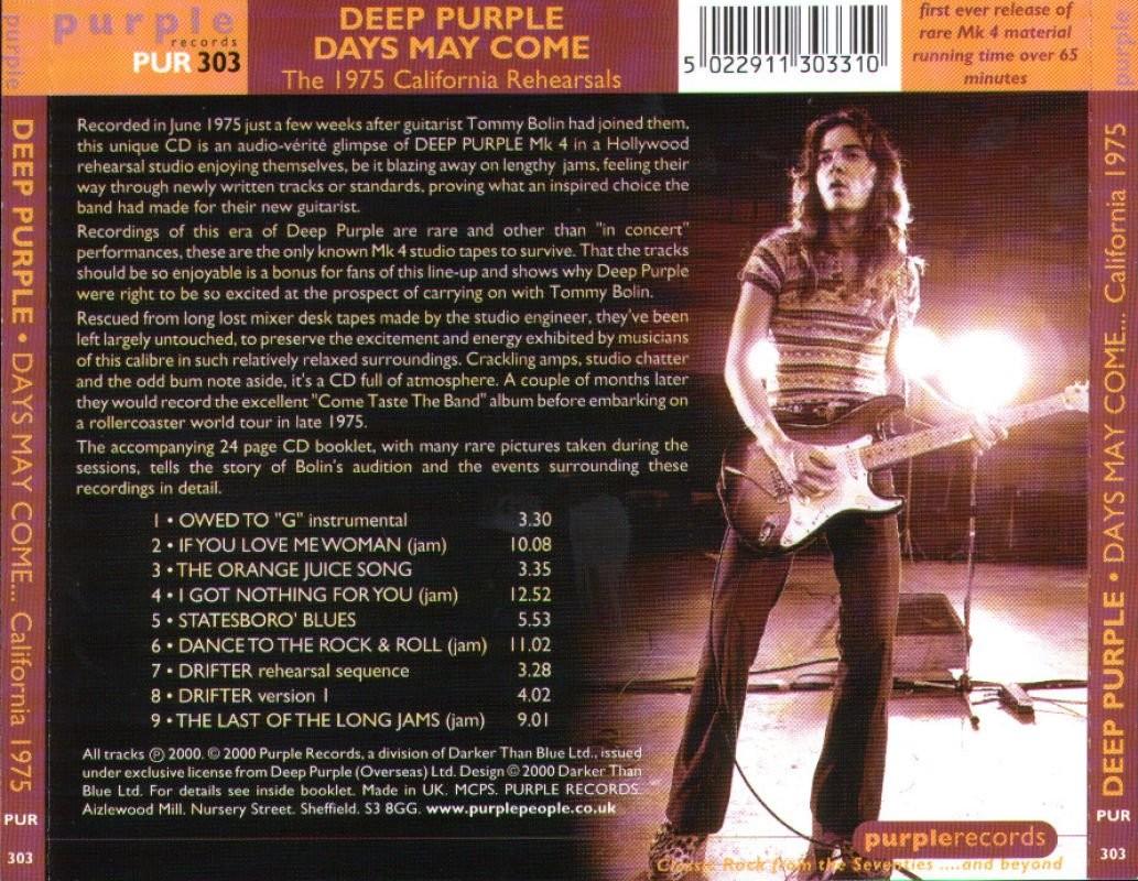 My Music Collection Deep Purple