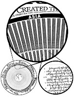 A detail of the Rosetta disk design and information structure