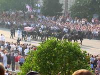 Ronald Reagan's casket processional