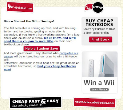 Click to view this July 18, 2008 AbeBooks email full-sized