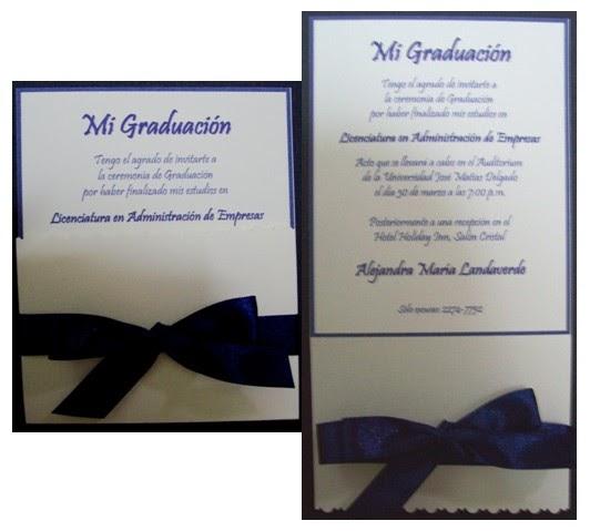 FLORES * DECORACIONES * MANUALIDADES Tarjetas de Graduación