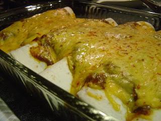 Cheesy Enchiladas with Chili Gravy