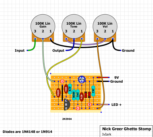 Guitar FX Layouts: Nick Greer Ghetto Stomp