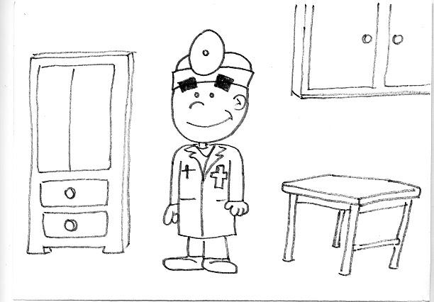 Dibujos De Medicos Para Colorear E Imprimir: Dibujitos Para Imprimir Y Colorear: Dibujo Para Imprimir