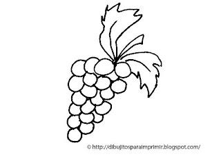 Dibujitos Para Imprimir Y Colorear Dibujo De Uvas Para