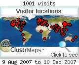 My first 1001 visitors