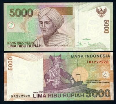 5000 rupiah, bergambar Tuanku Imam Bondjol & Penenun