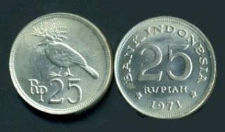 Rp 25 rupiah jigo emisi tahun 1971