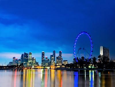 singapore flyer, singapore skyline