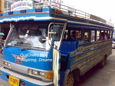 phuket town, thai town, thailand - tuk tuk bus