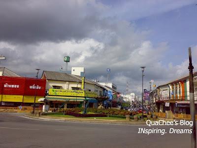 phuket town, thai town, thailand - roundabout