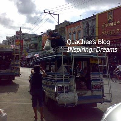 phuket town, thai town, thailand - tuk tuk public transport