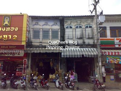 phuket town, thai town, thailand - shophouse, old building