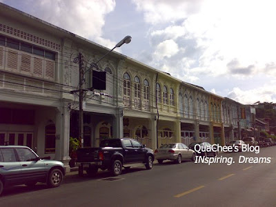 phuket town, thai town, thailand - old heritage building
