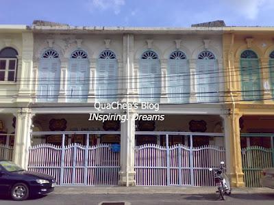 phuket town, thai town, thailand - old peranakan building