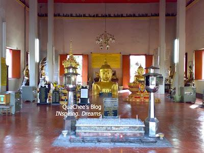 half buried buddha, wat phratong, phuket