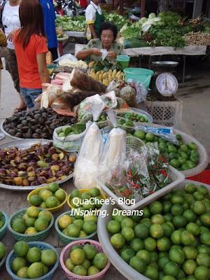 thai night market, phuket, thailand - fruits