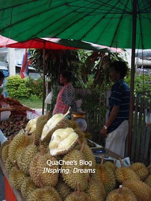 thai night market, thailand, durian