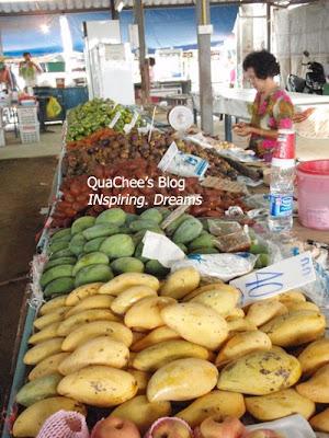thai night market, thailand, fruits, mango