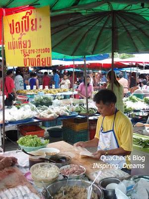thai night market, thailand, popiah
