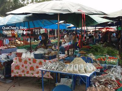 thai night market, thailand, dried food