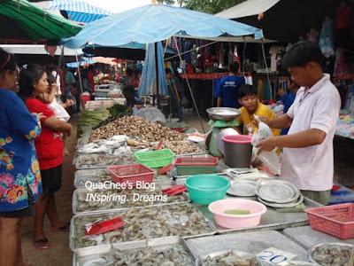 thai night market, thailand, prawn, seafood